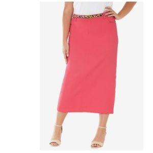 Dresses & Skirts - NWT 16W Coral denim skirt